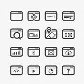 Different web browser icons set with rounded corners. Design elements