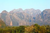 Mountain View In Vang Vieng, Laos