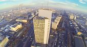 Residential district North Izmailovo at winter day in Moscow, Russia. Aerial view