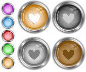 Heart. Raster internet buttons. Vector version is in portfolio.