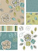 Spring Inspired Seamless Floral Patterns and Icons. Use as fills, digital paper, or print off onto f
