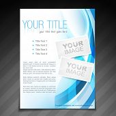 vector stylish brochure flyer poster template design