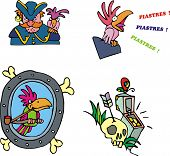Pirate And Parrot Clipart