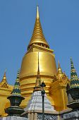 Golden Chedi At Grand Palace In Bangkok