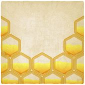 honeycomb old background