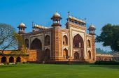 image of mumtaj  - Entrance to taj mahal in Agra India - JPG