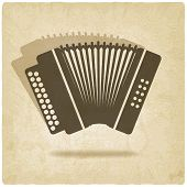 image of accordion  - accordion old background  - JPG