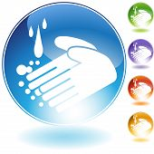 handwashing crystal icon