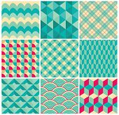 Vector Geometric Background Pattern Set