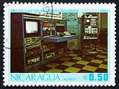 Postage Stamp Nicaragua 1982 Radio Transmission Station