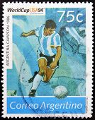 ARGENTINA - CIRCA 1994: Stamp printed in Argentina dedicated to the football world cup USA 1994