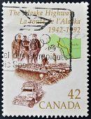 CANADA - CIRCA 1992: stamp printed in Canada shows Alaska Highway circa 1992