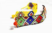 Two Zulu Beaded Bracelets In Bright Colors