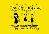 image of  friends forever  - Happy Friendship Day and Best Friends Forever idea design - JPG
