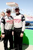LOS ANGELES - MAR 15:  Al Unser Jr, Kyle Petty at the Toyota Grand Prix of Long Beach Pro-Celebrity