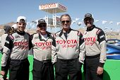 LOS ANGELES - MAR 15:  Colin Egglesfield, Al Unser Jr, Eric Braeden, Kyle Petty at the Toyota Grand