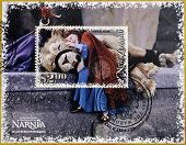 stamp shows The Chronicles of Narnia The Lion the Witch and the Wardrobe