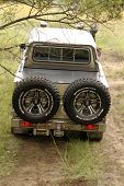 Green Toyota Land Cruiser 4 Door Rear