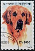A stamp printed in Sao Tome shows a dog