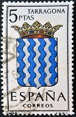 A stamp printed in Spain dedicated to Arms of Provincial Capitals shows Tarragona