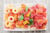 Assortment of gummy bear