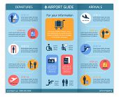 stock photo of passport template  - Airport business infographic brochure template with security check workflow steps vector illustration - JPG