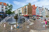The Joy Of Living Fountain. Rostock, Germany
