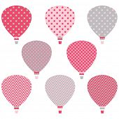 Hot Air Balloons Patterns - Illustration