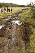4X4 Muddy Obstacle At Leroleng 4X4 Track