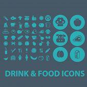 drink, food, vegetables, fruits, bio flat icons set  for digital web, print, design, mobile phone apps, vector