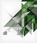 Vector Geometric Design Template For Brochure | Booklet