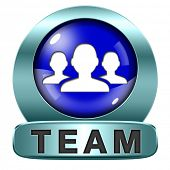 Team icon or work or business our team banner about us sign or button
