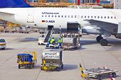 Aircraft On Gate In Frankfurt Airport