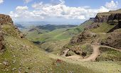 Sani Pass Panorama, on the border of South Africa and Lesotho.