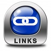links online internet web page link linking websites and webpages icon or button