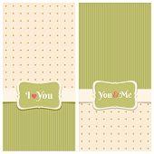 Beautiful Retro Love Greeting Cards