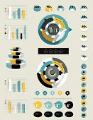 stock photo of exclusive  - Collection of exclusive business flat infographics elements - JPG