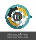 Circle infographic diagram. Modern flat round scheme for print or web page. Trend brand color layout