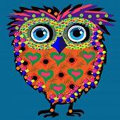 Owl, vector illustration, illustration for t-shirt, illustration for children (a series of popular h
