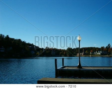 Lamp Post On The Dock poster