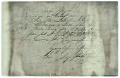 Old Letter With Handwritten Text. Grunge Paper Background