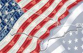 U.S. Flag & Money Concept 3D
