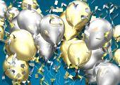 Celebration Balloons 3D