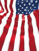 U.S. Flag Background 3D