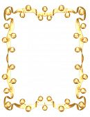 Gilded Jingle Bell Frame 3D (with clipping path)