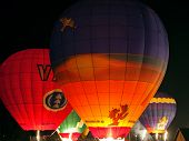 Night light show with ballons