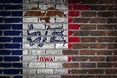 Dark Brick Wall - Iowa