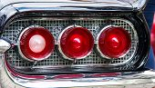foto of rear-end  - classic car red rear lights clsoe up - JPG
