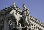 Ancient Statue Of Castor, Capitoline Hill, Rome