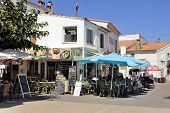 Coffee Shop In The City Center Of Saintes-maries-de-la-mer
